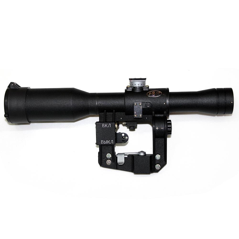 Lunette POSP 6x24 V version pour Saiga Réticule 1000 Dragunov - MIL SPEC