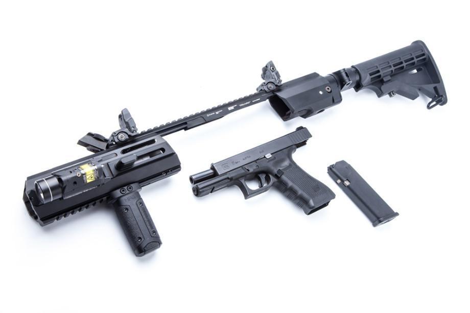 Kit de conversion Hera Arms Triarii RTU/SFU (Ready To Use/crosse pliante) - pour pistolets Glock Gen. 4