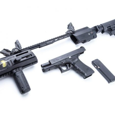 Kit de conversion Hera Arms Triarii RTU/SFU  (Ready To Use/crosse pliante) - pour pistolets Glock Gen. 3