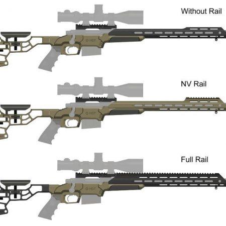 "Chassis aluminium ESS (avec crosse) MODELE ""NV RAIL"" - Pour Fusil Remington 700"