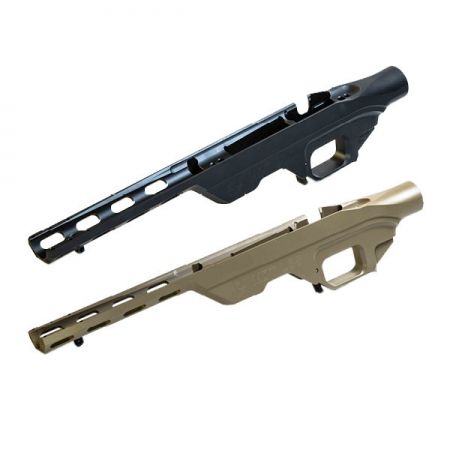 Chassis tactique aluminium LSS pour crosse pliable - Howa 1500 / Weatherby Vanguard (SHORT CALIBER)