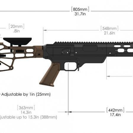 Chassis aluminium TAC21 - Remington 700 (Long Action)
