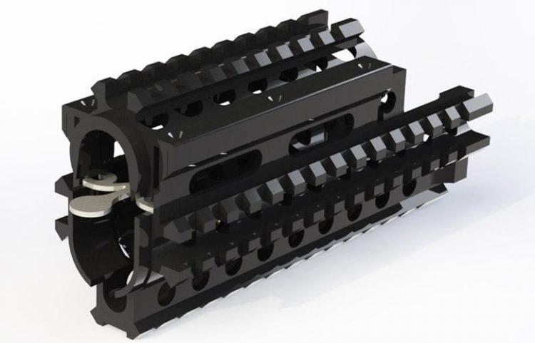 Garde-main tactique aluminium CQR type AK-v1 CROOK / BLACK