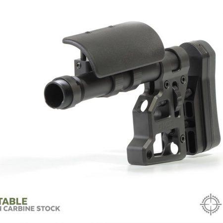 Crosse tactique Skeleton Carbine ambidextre - pour tout Fusil / NOIR
