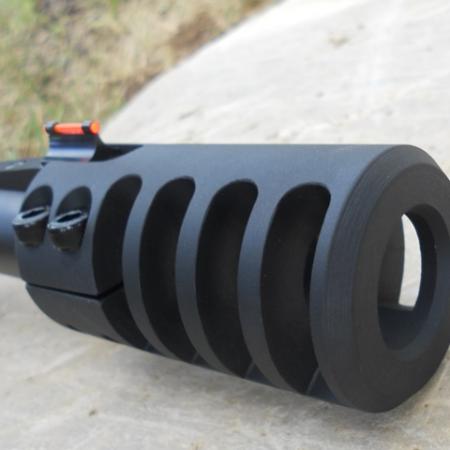 Frein de bouche universel GUNWORKS GRIZZLY pour fusil cal .12 ou .20 - acier 416