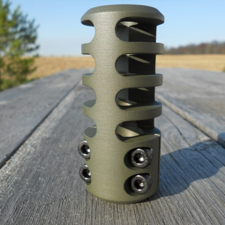 Frein de bouche GUNWORKS GRIZZLY pour carabine à canon non fileté- aluminium 7075