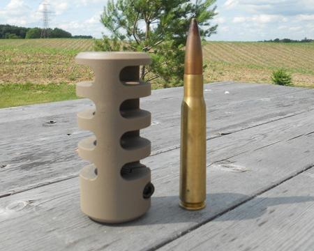 Frein de bouche GUNWORKS GRIZZLY pour carabine à canon non fileté- acier 416