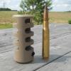 Frein de bouche GUNWORKS GRIZZLY pour carabine à canon fileté- acier 416