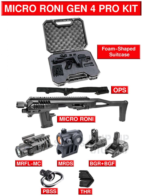 CAA TACTICAL Micro Roni G4 - PRO KIT - Pour GLOCK 17/19/23/32/22/31