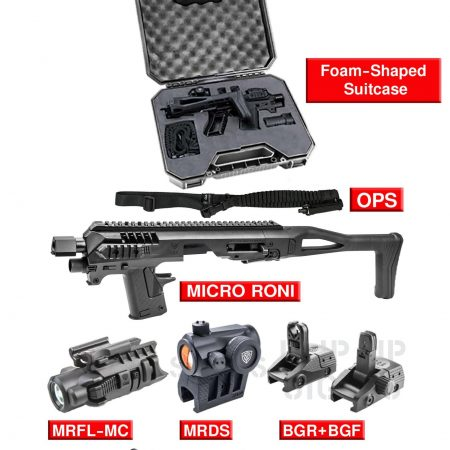 CAA TACTICAL Micro Roni G4 - PRO KIT - Pour GLOCK 17/19/23/32/22/31