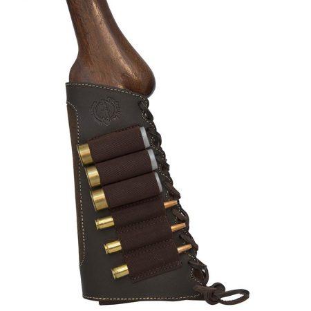 Cartouchière de Crosse pour 03 Cartouches de Fusil & 03 Cartouches de Carabine