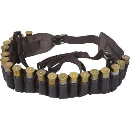 Nyitott bőrpatron öv 20 löveghéjhoz (Cal. 12 és .20)