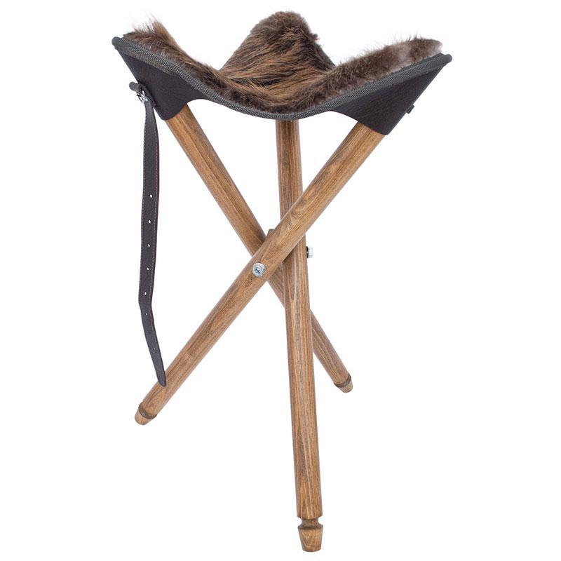 Összecsukható bőr szék székkel Castor ST-1hb-ben