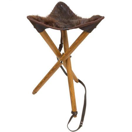 Chaise Pliante cuir avec assise en Castor ST-1hb
