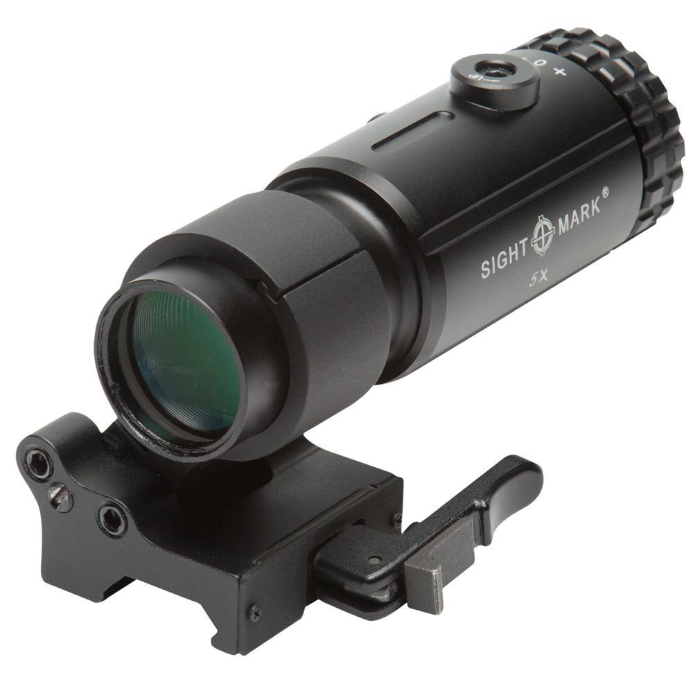 Lunette grossissante Sightmark T-5 Magnifier avec montage basculant LQD