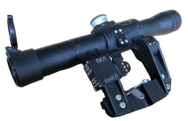 Lunette POSP 4x24T version pour SVD Dragunov Réticule 400 Simonov - MIL SPEC