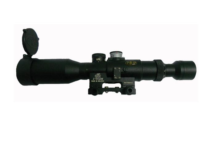3-9x42W POSP Bezel for Picatinny Rail Reticle 1000 Dragunov
