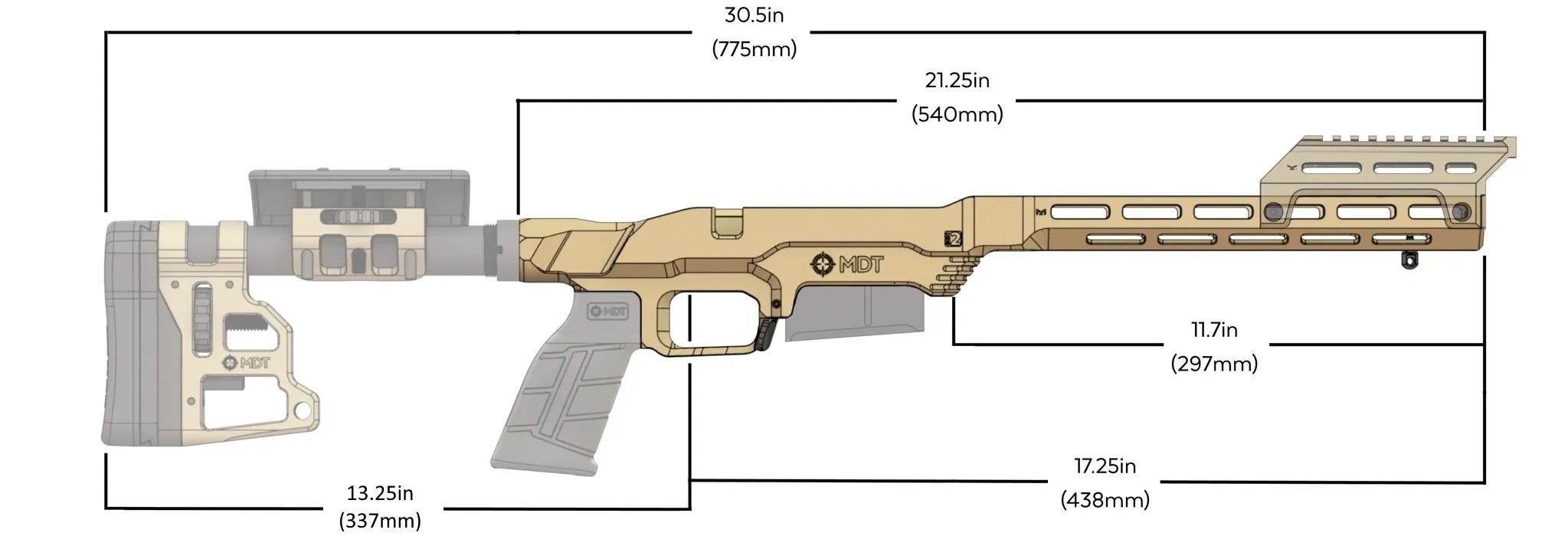 MDT LSS XL - CARBINE MOUNT aresmaxima.com