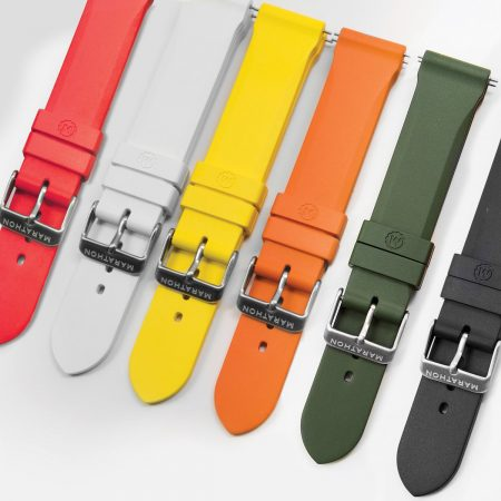 20mm Vulcanized Rubber Dive Watch Straps in Various Colors - aresmaxima.com